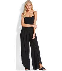 seafolly shirred waist wrap pants