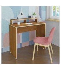 mesa escrivaninha para computador artany anny home office freijó
