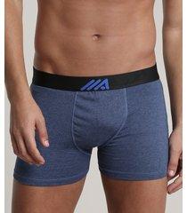 cueca boxer masculina ace azul