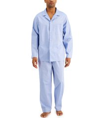 club room men's 2-pc. solid oxford pajama set, created for macy's