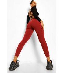 skinny broek met rits, terracotta