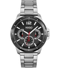 hugo men's #sport stainless steel bracelet watch 46mm