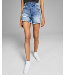 and now this women's ripped high-rise denim shorts