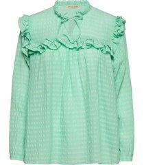 saseline blouse lange mouwen groen stella nova
