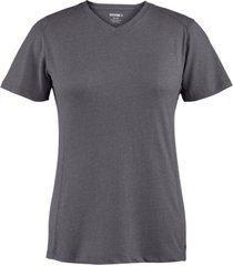 wolverine women's edge short sleeve tee black heather, size xxl