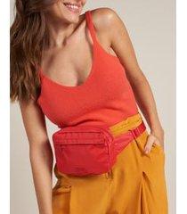 pochete monocolor nylon - vermelho u