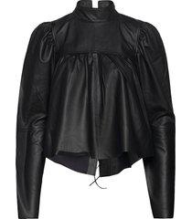 ducca blus långärmad svart custommade