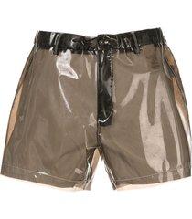 nº21 transparent shorts - black