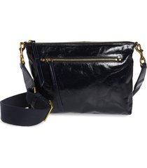 isabel marant nessah leather crossbody bag - blue