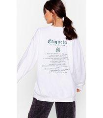 womens the modern woman oversized graphic sweatshirt - white