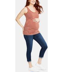motherhood maternity cropped skinny jeans