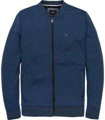 zip jacket two tone interlock dress blues