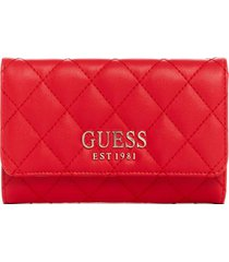 billetera melise slg slim clutch rojo guess