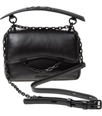 karl lagerfeld iconic k / karl seven shoulder bag in padded leather