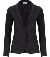 chaqueta tipo blazer unicolor color negro, talla xs