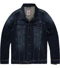 jaqueta khelf moletom índigo jeans - kanui