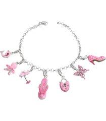 tedora designer bracelets, sterling silver pink bracelet