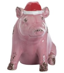trans pac ceramic santa hat pig decor