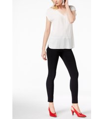 bar iii v-neck mixed-media mesh top, created for macy's