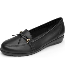 mocasin cuero casual negro kerry flexi