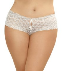 dreamgirl women's plus size lace panty with heart cutout back