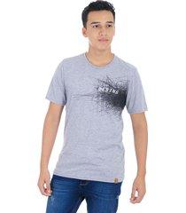 t-shirt cuello redondo gray mix s bocared spam 1812010