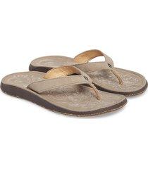women's olukai 'paniolo' thong sandal, size 11 m - beige