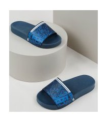 chinelo slide infantil molekinho estampado azul
