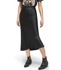 women's anine bing bar silk midi skirt, size large - black
