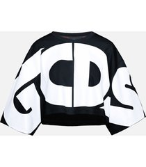 gcds crop macro logo round tee