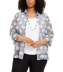 alfred dunner plus size layered look necklace top