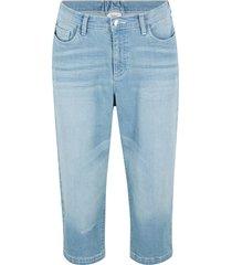 jeans capri boyfriend used con cinta comoda (blu) - bpc bonprix collection
