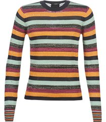 trui maison scotch fitted pullover in multicolour lurex stripe