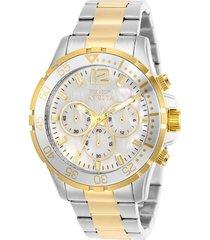 reloj invicta modelo 29462 oro plata hombre