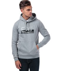 emporio armani ea7 mens hooded sweatshirt size s in grey