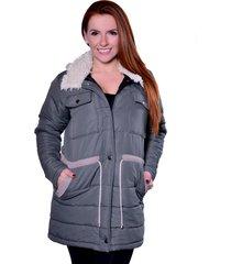 casaco sobretudo carbella carbella frio extremo verde