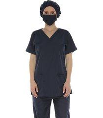 blusa de bio-protección antifluido azul oscuro , racketball
