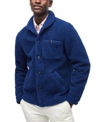 men's bonobos slim fit fleece shirt jacket