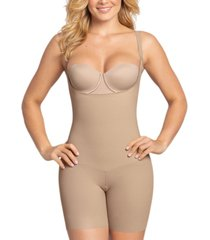 leonisa women's moderate tummy-control durafit open bust body shaper 018493