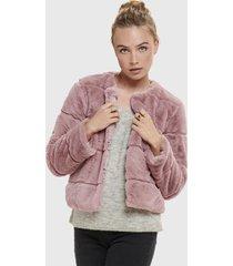 abrigo jacqueline de yong rosa - calce regular