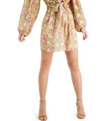leyden smocked mini skirt