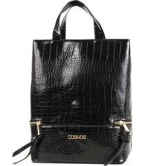 bolso de mujer negro tipo shopping cosmos