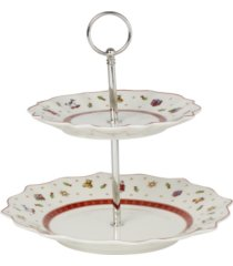 villeroy & boch toys delight two tier tray stand, small