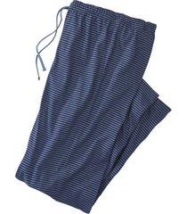 pyjamabroek, blauw-jeansblauw l