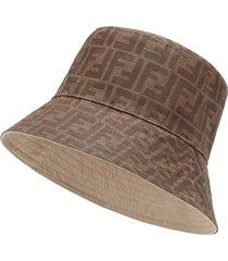 fendi reversible bucket hat - brown