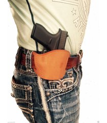 tan leather gun belt holster for walther pps,p-99/genuine right handed