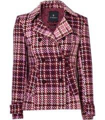 casaco le lis blanc luiza alfaiataria xadrez feminino (xadrez dhalia, 50)