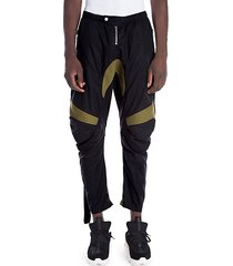 cotton-blend motorcross pants