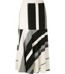alcaçuz striped flared skirt - multicolour