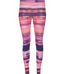 legging deportivo estampado morado y rosa color rosado, talla xxl
